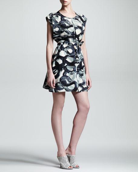 Metamorph Swirl Silk Dress