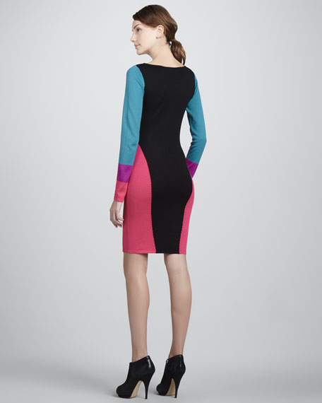 Fitted Colorblock Dress