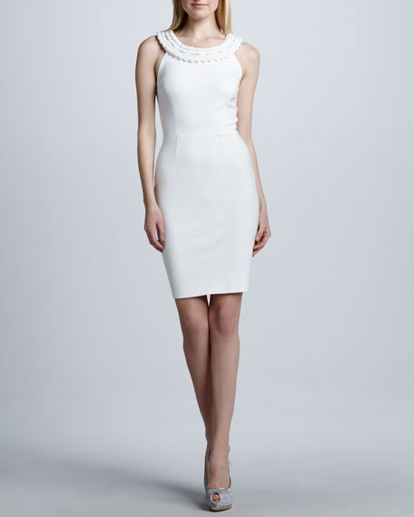Braided-Neck Dress