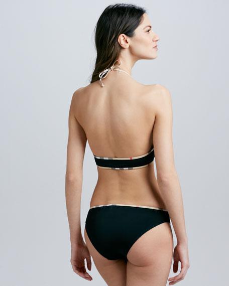 Check-Trim Tie-Front Bikini