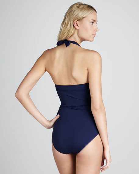 Ruched Underwire One-Piece Swimsuit
