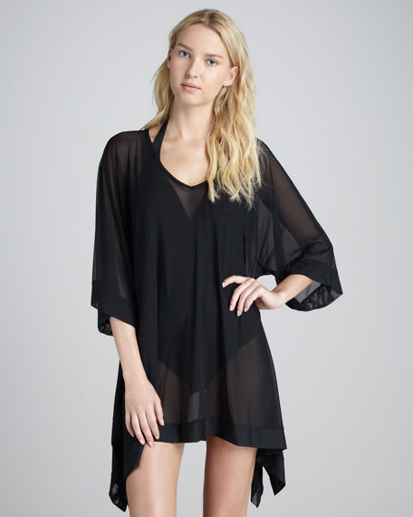 Sheer Arched-Hem Tunic