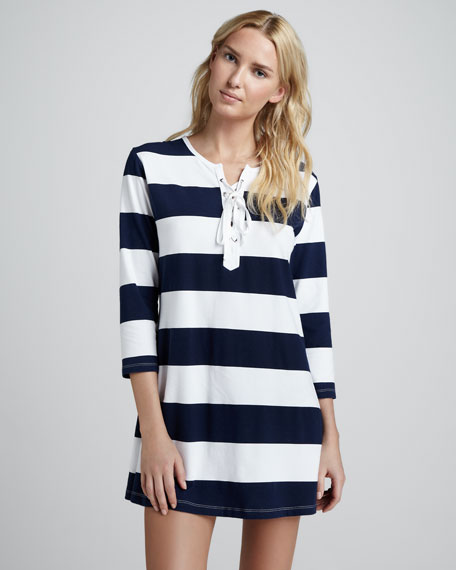 Striped Lace-Up Tunic, Mare