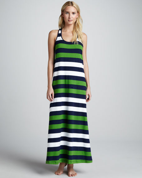 Rugby Striped Maxi Dress