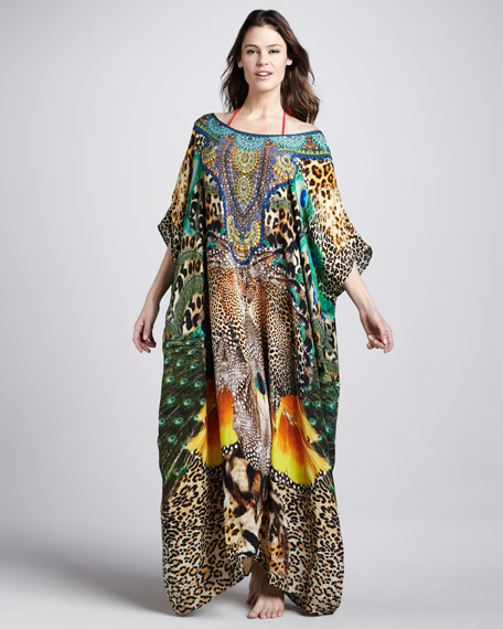 Surrealist Long Printed Caftan
