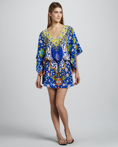 Formentera Printed Drawstring Dress