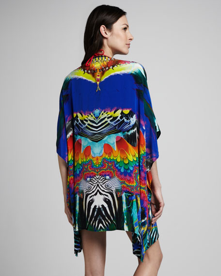 Printed Bead-Neck Caftan