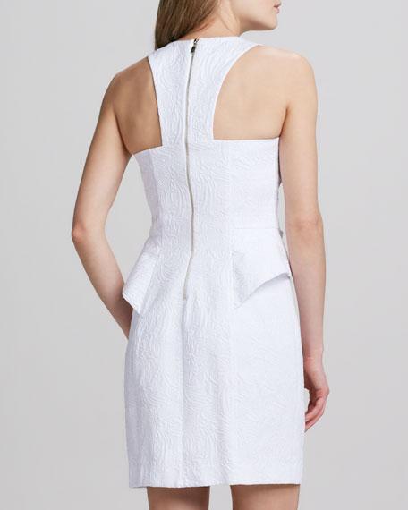Sleeveless Jacquard Necklace Dress