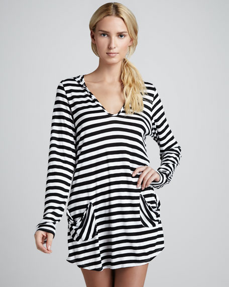 Portofino Striped Hooded Coverup