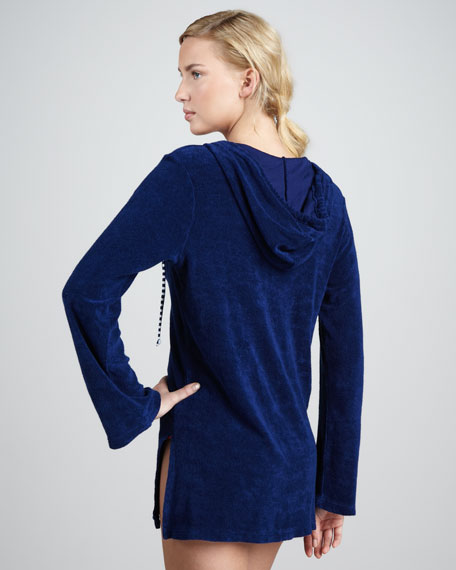 Circus Terry Hoodie Coverup, Navy