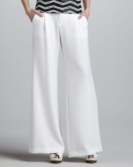 Eric Wide-Leg Gabardine Pants