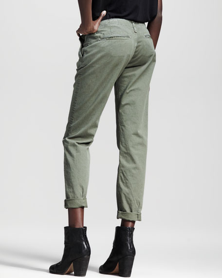 Portobello Slim Pants, Vintage Army