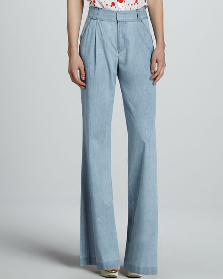 Eric Denim Wide-Leg Pants