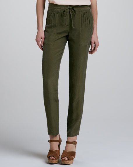 Dunes Silk Tapered Pants
