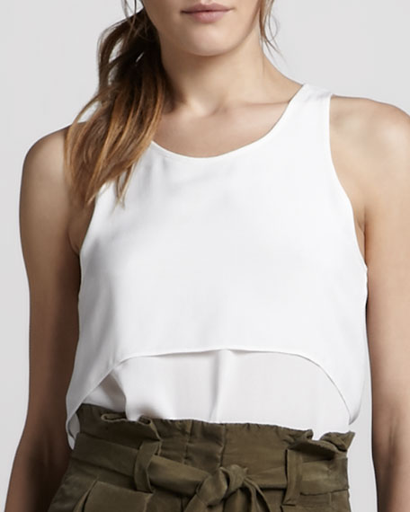 Saleya Tiered Tank Top, White