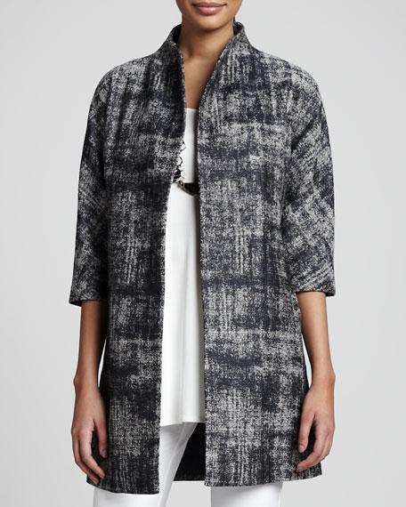 Illusion Jacquard Coat