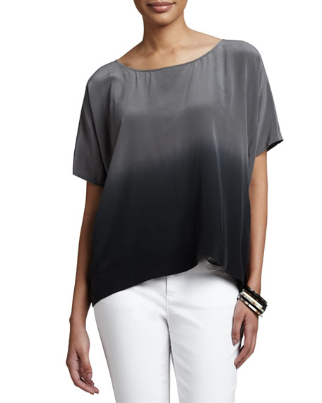 Ombre Wedge Silk Top
