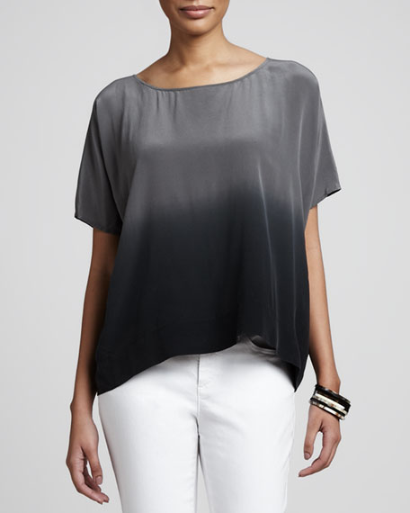 Ombre Wedge Silk Top, Women's