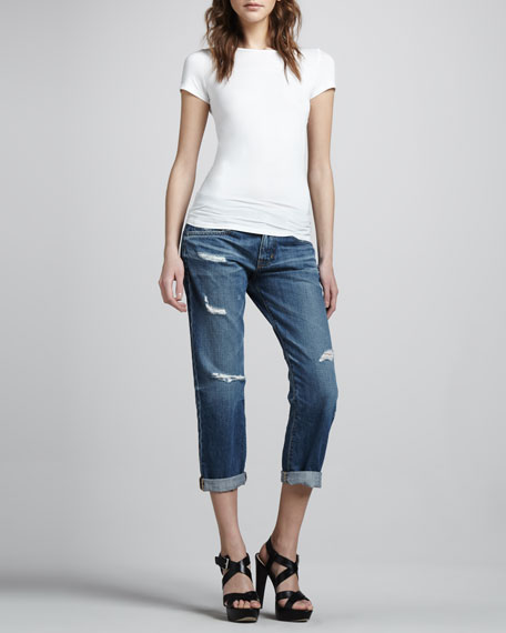 Ex-Boyfriend Damage Cropped Jeans