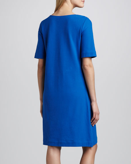 Pique Lace-Up Dress, Women's