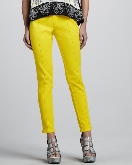 Roundup Skinny Pants, Sunshine/Black
