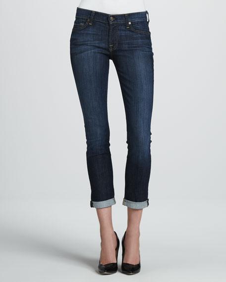 Skinny Crop & Roll Jeans, Nouveau NY Dark