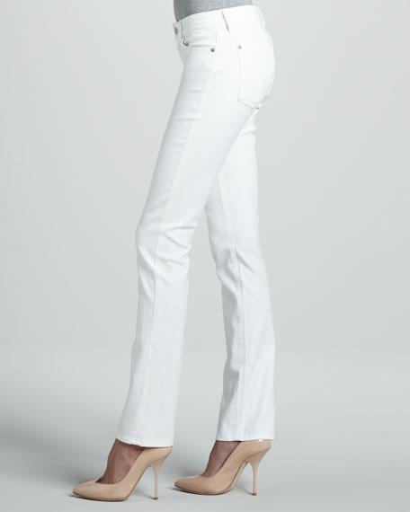 Straight-Leg Jeans, Clean White