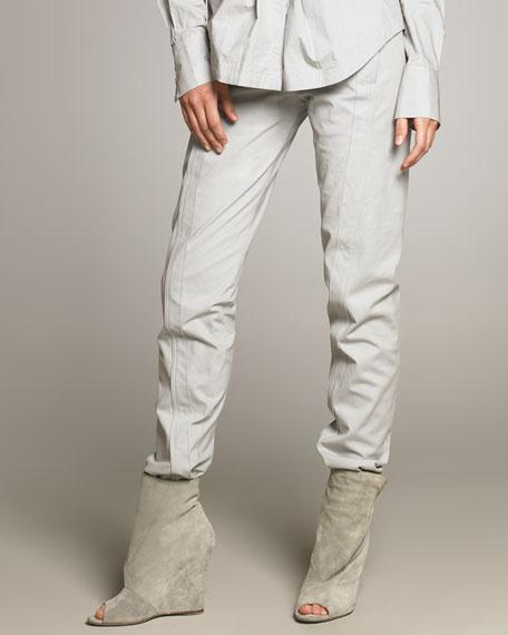 Seamed Cotton Pants
