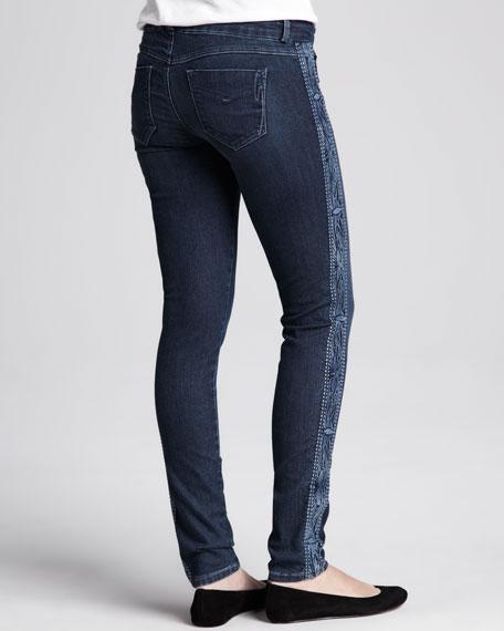 Side-Panel Skinny Jeans