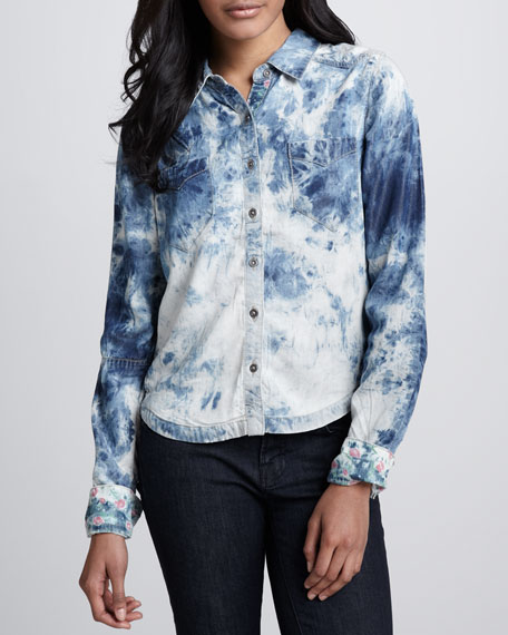 Tie-Dye Chambray Shirt