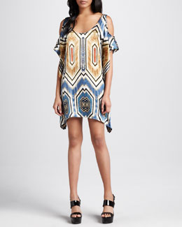 SW3 Bespoke Hatton Tribal Cold-Shoulder Dress