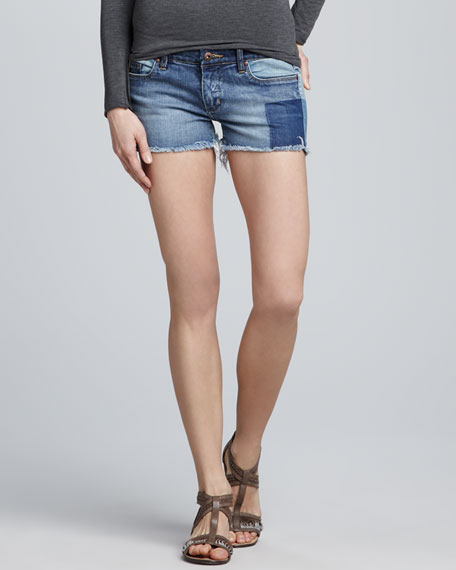 Patchwork Cutoff Shorts