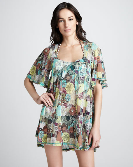 Printed Voile Coverup