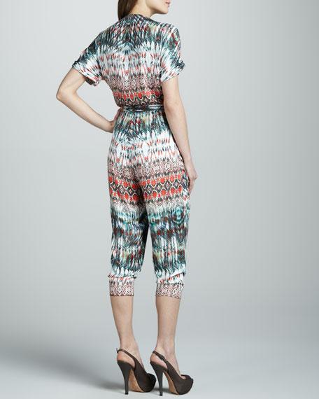 Blanca Tribal-Print Jumpsuit