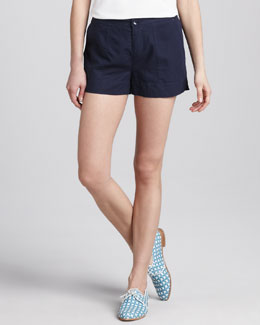 C&C California Relaxed Twill Shorts, Navy