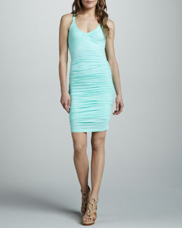 Velvet by Graham & Spencer Onida Ruched Slub Dress