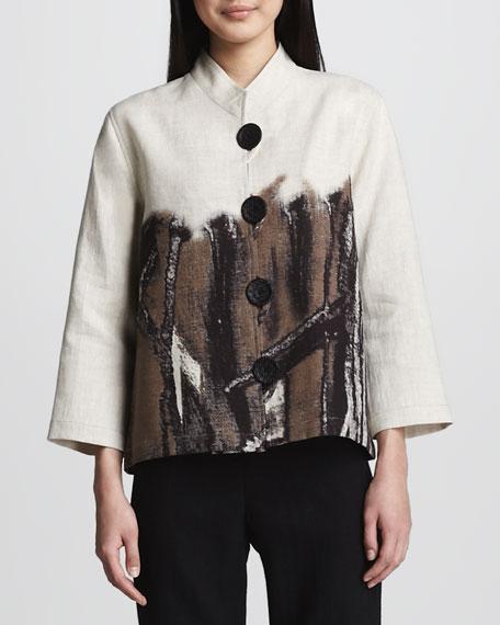Nature Border Linen Jacket