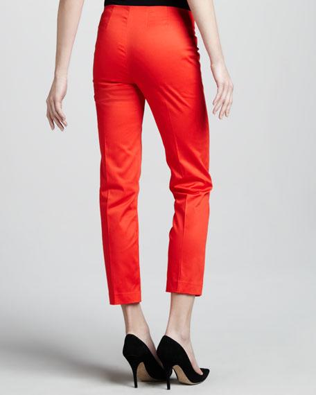 Cropped Side-Zip Pants, Tamale