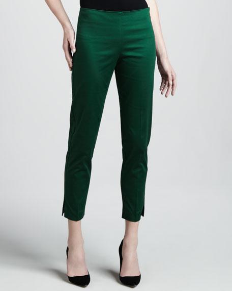 Cropped Side Zip Pants, Elm