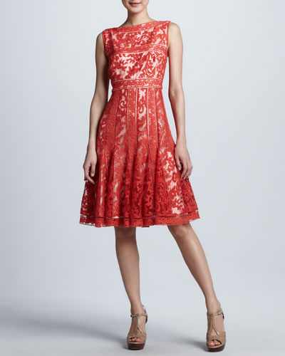 Tadashi Shoji Fit-and-Flare Lace Cocktail Dress