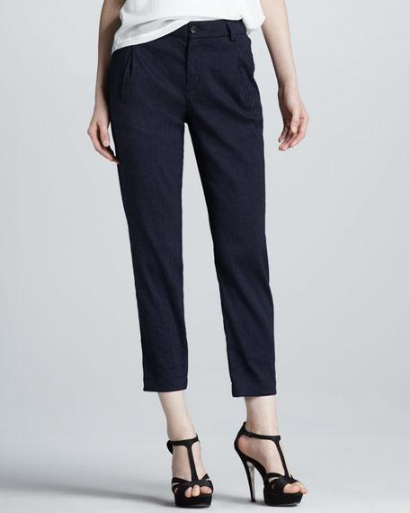 Pleated Twill Pants