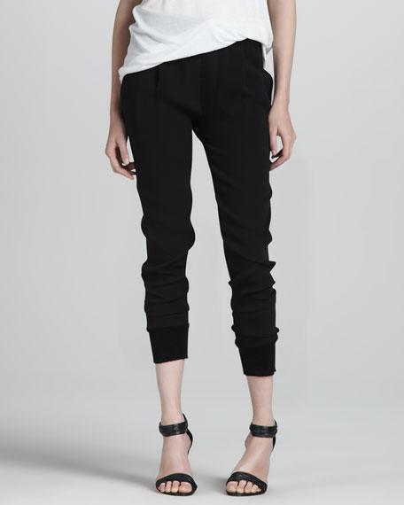 Silk Jogger Pants