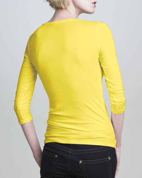 Fitted V-Neck Jersey Top