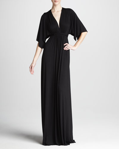 Rachel Pally Solid Black Caftan Maxi Dress