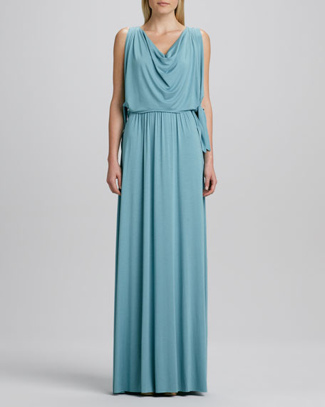 Birdie Draped Grecian Maxi Dress