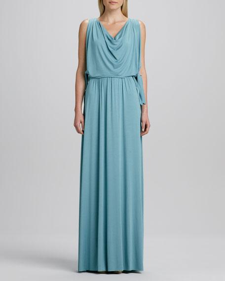 Birdie Draped Grecian Maxi Dress