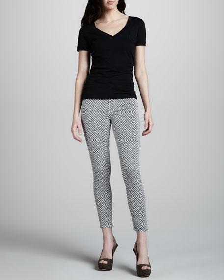 Hoxton Ultra Skinny Herringbone Jeans, Koi