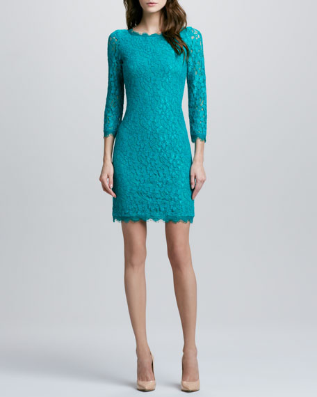 Zarita Lace Dress, Parakeet