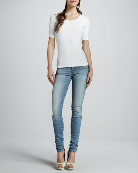 Julie Sunset Pass Skinny Flap Jeans