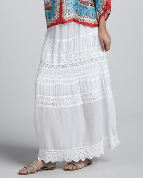 Georgette Eyelet Skirt